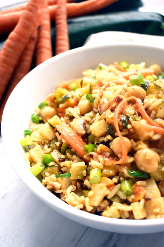 BASMATI RICE VEGGIE BOWL WITH CHICKPEAS