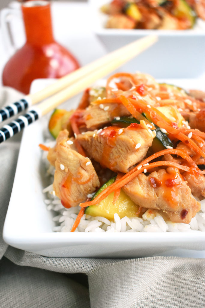 THAI SWEET CHILI CHICKEN with VEGGIES