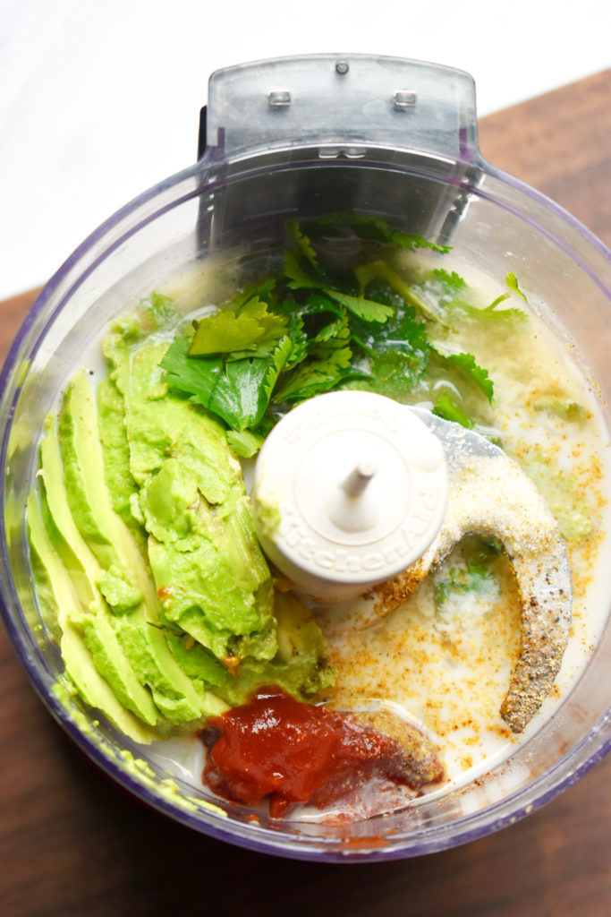 SPICY AVOCADO CREAM SAUCE