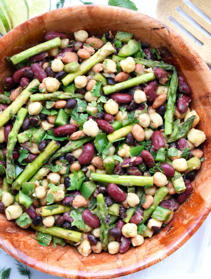Four Bean Salad with Asparagus